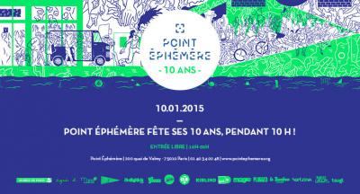 Le Point Éphémère fête ses 10 ans pendant 10 heures