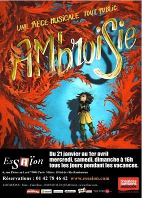 Ambroisie au théâtre de l'Essaïon : spectacle musical sur les traces de Perrault