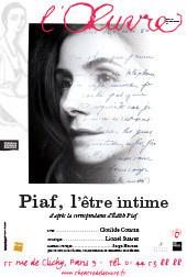 Piaf l'être intime, reprise au Café de la Danse