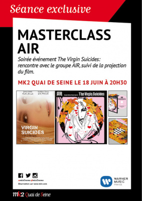 Masterclass du groupe Air et projection du film The Virgin Suicides
