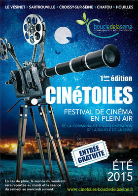 CINéTOILES, le festival de cinéma en plein air de la Boucle de la Seine