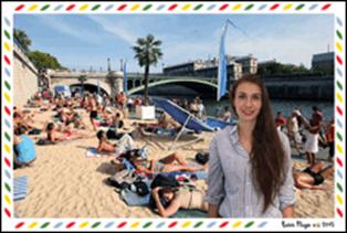 Envoyez une carte postale-selfie de Paris Plages
