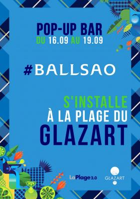Le pop-up bar Ballsao s'invite à LaPlage de Glazart