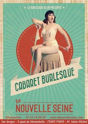 Cabaret Burlesque au théâtre de la Nouvelle Seine