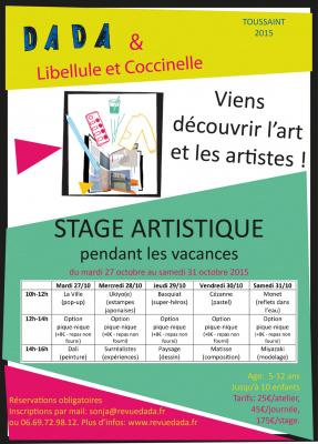 Stage artistique pour enfants à la librairie Libellule et Coccinelle