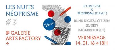 Les Nuits Néoprisme expose le label Entreprise à la galerie Arts Factory