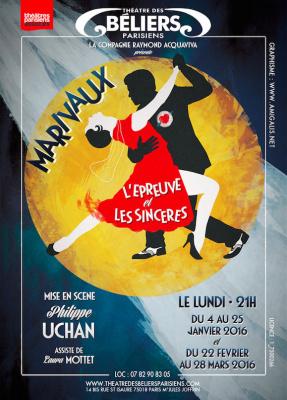 L'Épreuve et Les Sincères de Marivaux, au Théâtre des Béliers Parisiens