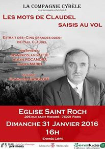 Hommage à Paul Claudel : les Cinq grandes odes à l'Eglise Saint Roch