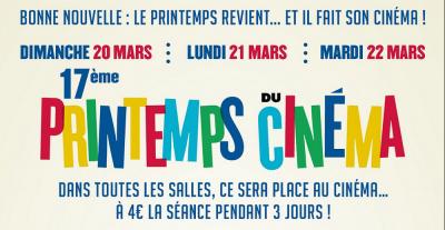 Le Printemps du Cinéma 2016, le ciné à 4 €