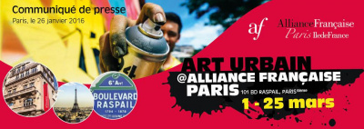 Art urbain, l'expo gratuite à l'Alliance française Paris Ile-de-France