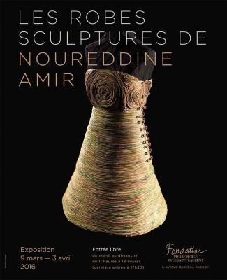 Les robes sculptures de Noureddine Amir à la Fondation Pierre Bergé-Yves Saint Laurent