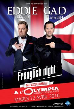 Gad Elmaleh et Eddie Izzard réunis pour la Franglish Night à l'Olympia