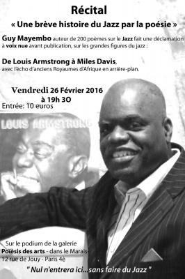 Brève histoire du jazz en poésie à la galerie Poïèsis des Arts