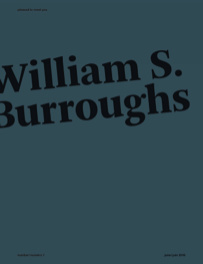 William S. Burroughs, l'exposition à la Semiose Galerie