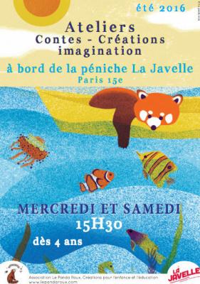 La péniche La Javelle organise des ateliers pour enfants !