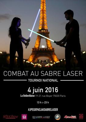 Compétition de sabre laser à la Bellevilloise