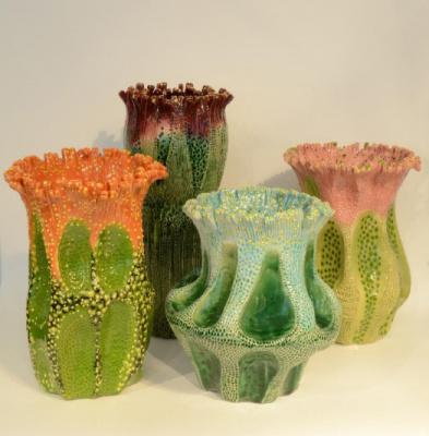 Fleurs de faïence, la belle expo céramique de la galerie Mougin