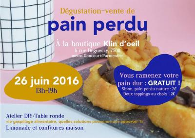 Pain perdu chez Klin d'oeil : un rendez-vous gourmand et politique