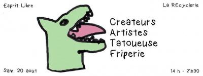 Esprit Libre à la REcyclerie : art et shopping !