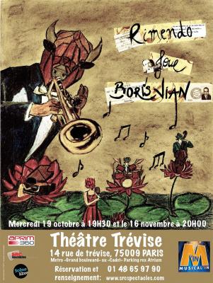 Rimendo joue Boris Vian au théâtre Trévise