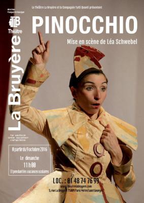Pinocchio, le spectacle pour enfants au théâtre La Bruyère