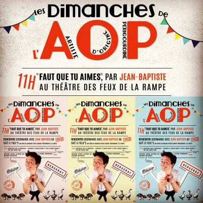 Les dimanches de l'AOP aux Feux de la Rampe : brunch et humour