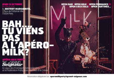 Apéro-Milk Party au Bistrot Marguerite : le lait s'invite à l'apéro