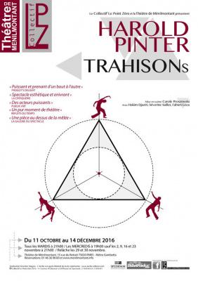 Trahisons de Harold Pinter au théâtre de Ménilmontant