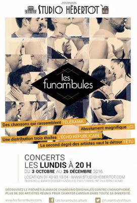 Les Funambules, concerts solidaires au Studio Hébertot