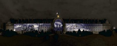 Son et lumière monumental aux Invalides : 100 ans au service du monde combattant