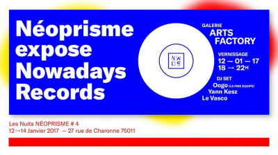 Néoprisme expose Nowadays Records à la galerie Arts Factory