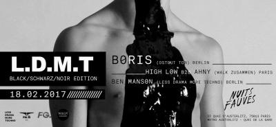 LDMT Featuring Boris (Ostgut Ton Berlin) aux Nuits Fauves : gagnez vos places !