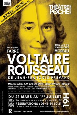 Voltaire Rousseau, le spectacle au théâtre de Poche-Montparnasse