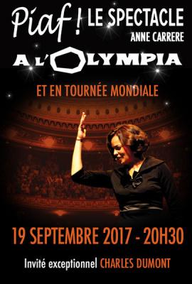 Piaf ! le spectacle à l'Olympia en septembre 2017
