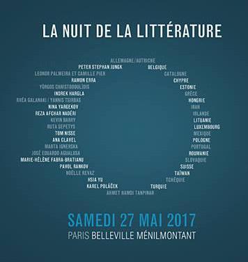 Nuit de la littérature 2017 à Paris : le programme