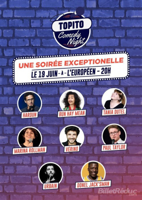 Topito Comedy Night à l'Européen