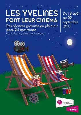 Les Yvelines font leur cinéma 2017 : cinéma en plein air dans 24 villes