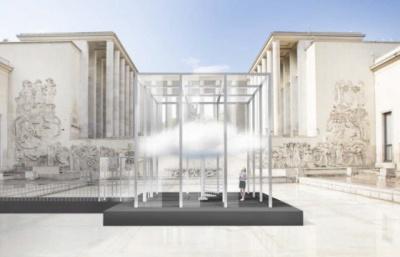 Le Nuage Parfumé, installation odorante sur le parvis du Palais de Tokyo