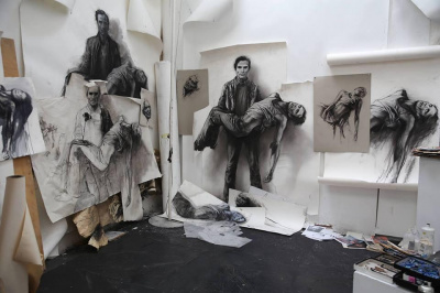 Ernest Pignon-Ernest s'expose pour l'inauguration de l'Espace Art Absolument
