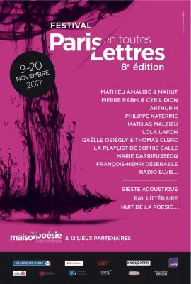 Festival Paris en toutes lettres 2017 : lectures, concerts, performances