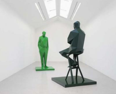Xavier Veilhan installe une sculpture à deux pas du Centre Pompidou