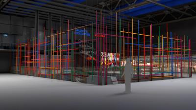Color Cage, une installation éphémère dans le hall du Centre Pompidou
