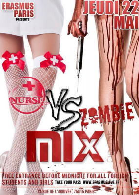 Erasmus Paris : Nurse vs Zombie