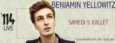 Benjamin Yellowitz en Live à Paris