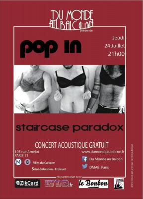 Concert Pop-rock acoustique le 24 juillet au Pop In