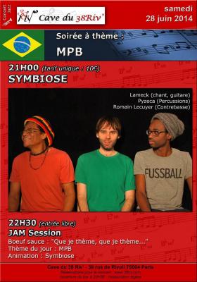 Soirée Jazz MPB avec le groupe brésilien Symbiose à la Cave du 38 Riv'