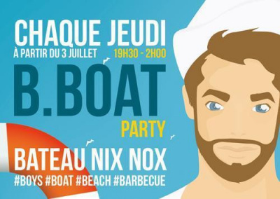B Boat Party la nouvelle soirée gay à Paris