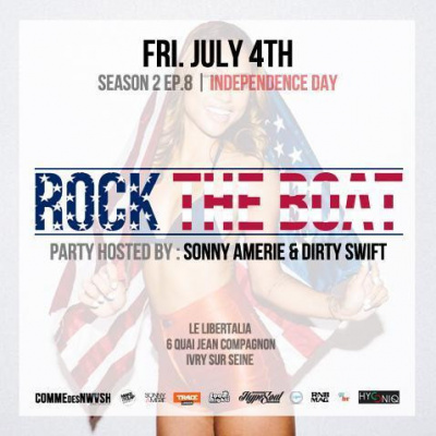 ROCK THE BOAT x INDEPENDENCE DAY x FRIDAY 4th JULY