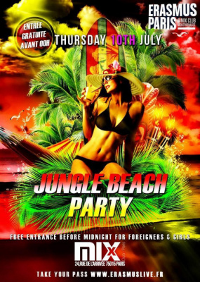 Erasmus Paris : Jungle Beach Party