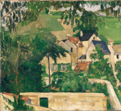 Cézanne, Le Quartier du Four à Auvers-sur-Oise (détail), vers 1873